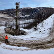 Water well for winter gold exploration drilling at Aurora West Pogo Alaska