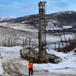 Water well at Aurora gold exploration target West Pogo 64North Alaska