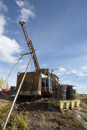 Gold exploration drilling north of Yellowknife, NWT
