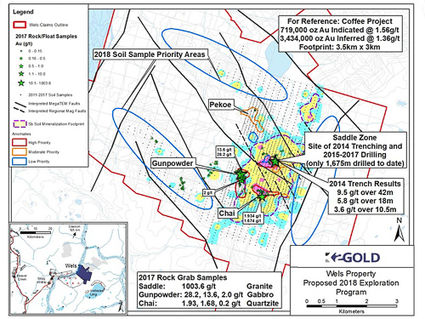 K2 Gold Wels gold exploration map southwest Yukon near Alaska border