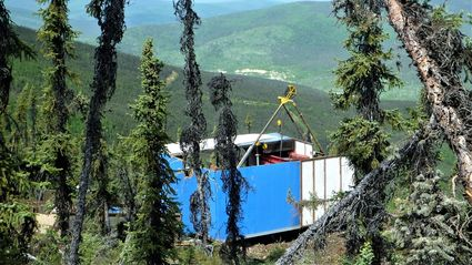 Lode gold exploration drilling near Eldorado Bonanza Creeks Yukon