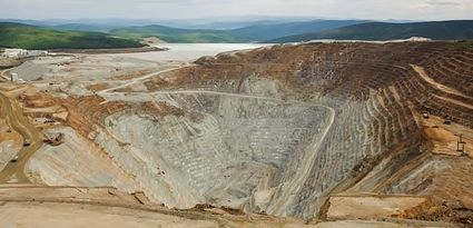 Open-pit gold mining operation near Fairbanks Alaska